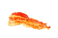Crispy strip of bacon royalty free stock photography