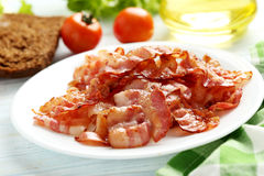 Crispy strips of bacon Royalty Free Stock Photos