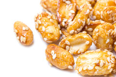 Crispy Sugared Nuts. Royalty Free Stock Image