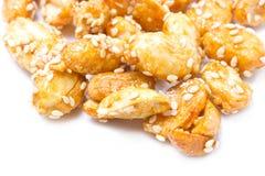 Crispy Sugared Nuts. Stock Photos