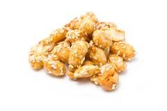 Crispy Sugared Nuts. Royalty Free Stock Photos