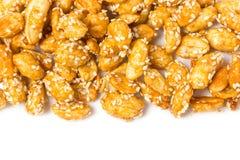 Crispy Sugared Nuts. Stock Photo
