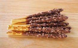 Crispy sweet straws filled Stock Photos