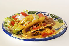 Crispy Taco Mexican Plate Royalty Free Stock Image