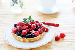 Crispy tartlet with berries Royalty Free Stock Image