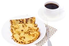 Crispy thin pancakes on plate, light background Stock Photography