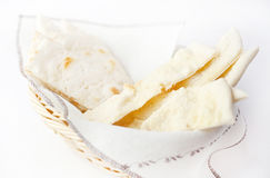 Crispy thin white bread Stock Photos