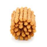 Crispy twirls isolated on white background. Crispy twirls isolated on white Royalty Free Stock Images