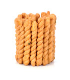 Crispy twirls isolated on white background. Crispy twirls isolated on white Stock Images