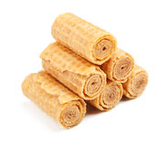 Crispy Wafer Rolls Royalty Free Stock Image