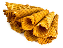 Crispy wafer rolls Stock Photography