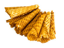 Crispy wafer rolls Royalty Free Stock Photos