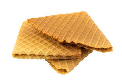 Crispy wafers. On a white background, isolated Royalty Free Stock Photo