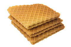 Crispy wafers. On a white background, isolated Stock Photo