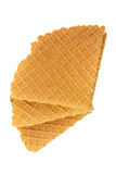Crispy wafers. On a white background, isolated Stock Photos