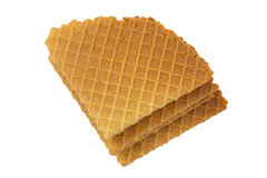 Crispy wafers. On a white background, isolated Stock Image