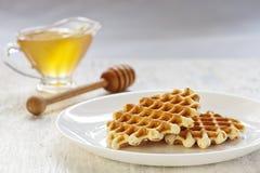 Crispy waffles Stock Image