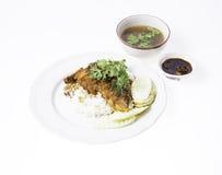Crispy wieprzowina na Rice Zdjęcie Royalty Free