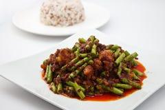 Crispy wieprzowina z curry pastą Obrazy Royalty Free
