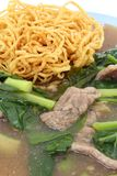 Crispy yellow noodle Stock Images