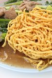 Crispy yellow noodle Royalty Free Stock Photography