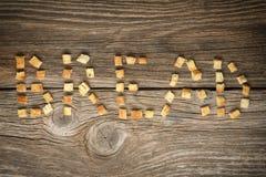 Crispy złoci świeżo smażeni croutons robić cubed biały chleb obrazy royalty free