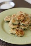 Crispy Zucchini Rounds Stock Image
