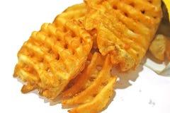 criss отрезали французские fries стоковые фото