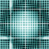 Criss-corss métalliques verts Photo stock