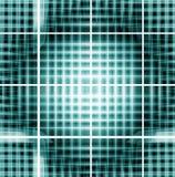 Criss-corss metallici verdi Fotografia Stock