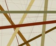 Criss Cross Browns Abstract Background stock illustratie
