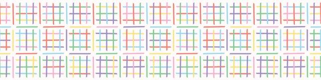 Criss Cross Maze Vector Pattern Frontière sans couture tirée par la main illustration de vecteur