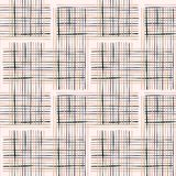 Criss Cross Weave Hand Drawn krämfärg Royaltyfria Bilder