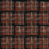 Criss Cross Weave Orange abstrato e branco ilustração do vetor