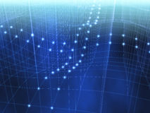 Criss Querblaues 3D Computernetz Stockfotografie