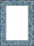 CrissCross Frame. Vector art in Illustrator 8. Hand-drawn, loose style, abstract frame in soft shades of blue. Looks good vertical OR horizontal. Color, outline Royalty Free Stock Photos