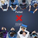 Crisscross Icon Failed Message Concept Royalty Free Stock Photography
