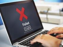 Crisscross ikony wiadomości Nieudany pojęcie zdjęcia stock