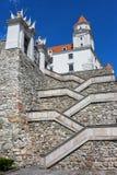 Crisscross Stairs to the Bratislava Castle. In Slovakia stock photos