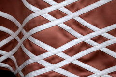 Crisscrossed Detailing on Satin Dress Stock Photos