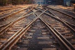 Crisscrossed the tracks Royalty Free Stock Photos