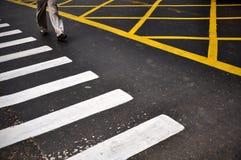 Crissing a estrada Foto de Stock