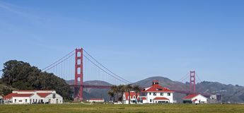 Crissy Field et golden gate bridge Photo libre de droits