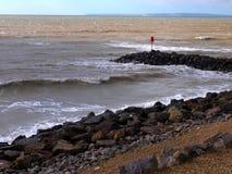 Crista de onda litoral Fotos de Stock Royalty Free