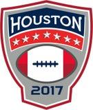 Crista do grande jogo do futebol americano de Houston 2017 retro ilustração do vetor