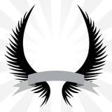 Crista gótico das asas ilustração do vetor