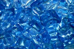 Cristais azuis imagens de stock royalty free