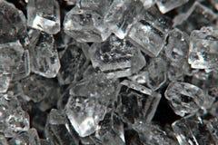 Cristais brilhantes de sal, cristais de gelo Fotografia de Stock Royalty Free