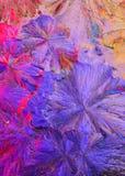 Cristais coloridos do ácido cítrico fotos de stock