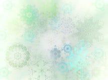 cristais da neve no inverno Fotografia de Stock